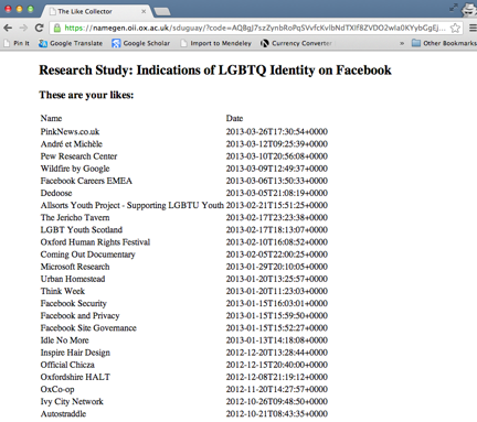 Indications of LGBTQ Identity on Facebook Study – Stefanie Duguay